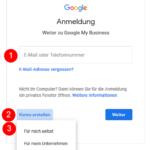 GMB Account erstellen/ registrieren